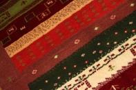 センターラグ手織りペルシャギャッベウール270000
