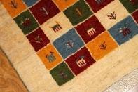手作りギャッベのシラズ産地玄関マットサイズ181032
