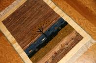 イラン製のギャッベ、手織り高級メリノウールギャッベ1810173