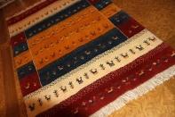 センターラグ高級手織りペルシャギャッベウール192188