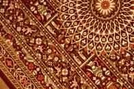 面白い模様の絹玄関マットペルシャ織り50041