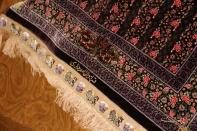 最高級有名工房のJEDDI玄関マットシルクペルシャ絨毯60064