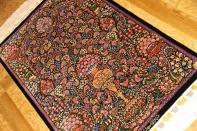 トップクラス手織りペルシャ絨毯シルクJEDDI有名工房60063