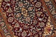 マンションサイズのカシャーンシルク手織りペルシャ75115