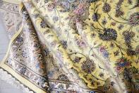 最高級カシャーンシルクリビング手織りペルシャ絨毯75198