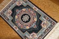 イラン製の高級機械織りのカーペット玄関マット990052