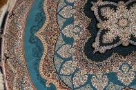 最高級機械織りペルシャカーペット丸い形ブルー990085L