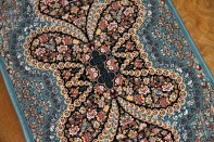 小さい玄関マットイラン製の高級機械織りカーペット990051