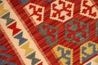 可愛いキリムの玄関じゅうたん手織りペルシャ46513