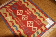 玄関マットの手織りキリムシラズ産地ウール46514