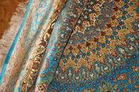 絨毯丸い、最高級手織りペルシャ絨毯円形絹60001