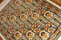 ミニシルク手織りペルシャカーペット47004