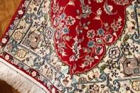 高級手織りペルシャ絨毯ナイン玄関マット赤い21126