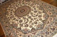 リビングペルシャ絨毯手織りナイン産地メダリオン59032