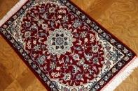 マンションの玄関マット、手織りペルシャ絨毯ナイン39509