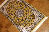 イラン輸入マンション玄関マットペルシャ絨毯ナイン産39799