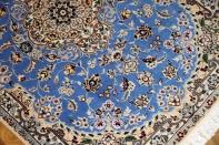 ナインブルー憧れの色彩ペルシャ玄関絨毯21192