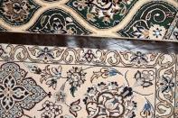 高級ペルシャ絨毯ナインゴンバディデザイングリーン75150