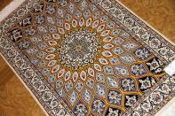 人気デザインゴンバディ、手織りペルシャ絨毯ナイン玄関マット75158