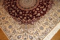 高品質赤い色ペルシャ絨毯ハビビアン工房57034