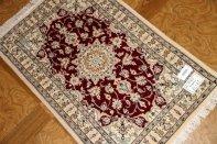 手織りペルシャ絨毯ナイン産玄関マット99410