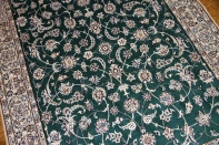 手織りペルシャ絨毯ナイン産ラグサイズグリーン色59020