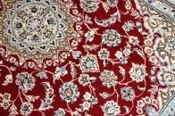 ペルシャ絨毯玄関マットオンライン販売ナインレッド55236