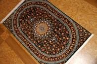 とてもユニークな色彩手織りシルクの玄関マット56021