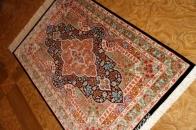 エレガントシルク玄関マットペルシャ手織り絨毯56018