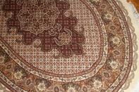 高級手織りペルシャ絨毯タブリーズ楕円形29908