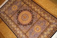 ペルシャ絨毯シルク変わってる玄関マット50053