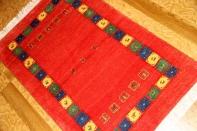 高級ギャッベのシラズ産、とても細かい織り方の玄関マットギャッベ18881