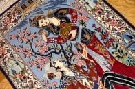 壁掛け絨毯のイスファハン産地ペルシャ50133