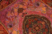 最高級シルクの手織りペルシャ絨毯センターラグ75125