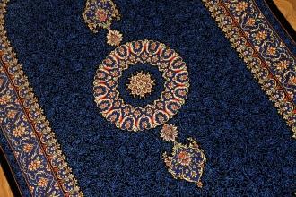 ペルシャ絨毯クムシルクメダリオン75162