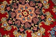 玄関マットのペルシヤ絨毯クムウール赤37037