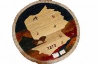 オリジナルペルシャギャッベ円形、丸のギャッベ37674