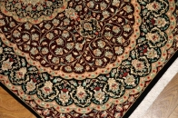 伝統的なペルシャ絨毯の模様クムシルク56076