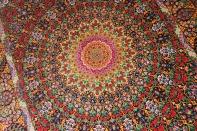 abbasi有名工房高級クムシルクペルシャ絨毯バラ模様60017