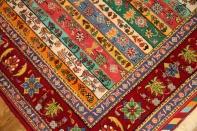 カラフルな高級シルジャンキリムギャッベ手織りペルシャ1810107