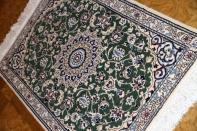 グリーン色の高級ペルシャ絨毯マンションサイズ58026