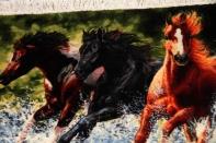 タブリズの馬のピクチャー手織りペルシャ55350