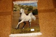 白馬絨毯、ペルシャ絨毯タブリーズピクチャー模様55357