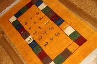 羊毛ウールの高級細かい織り方のギャッベ188113