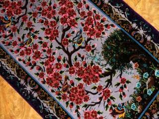 掛け軸ペルシャ絨毯最高級シルク有名工房56003