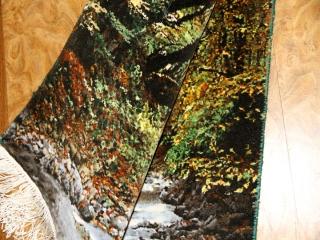 川の風景のピクチャー模様手織りペルシャ絨毯50105