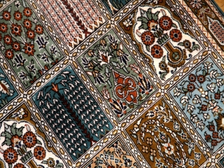 シルクペルシャ玄関マット和風な色彩50028