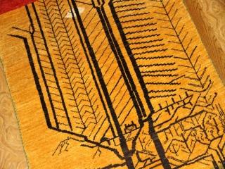 珍しいギャッベの模様メリノウールのシラズ930400