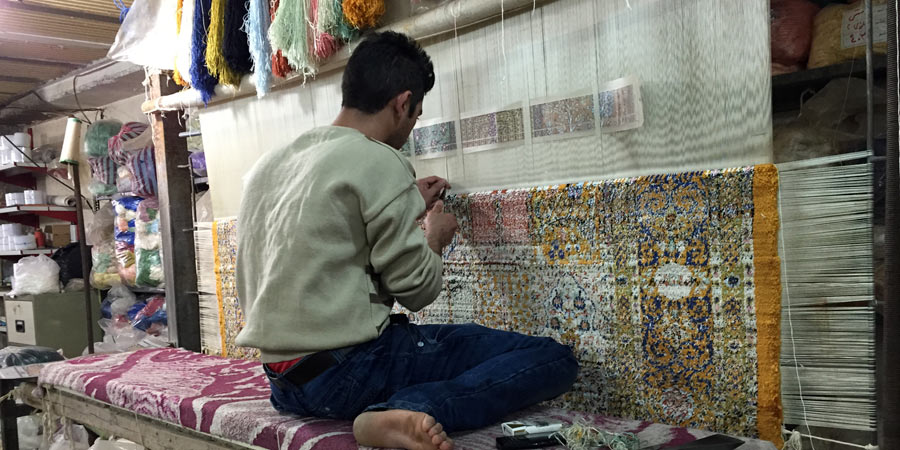 carpet making in iran 02