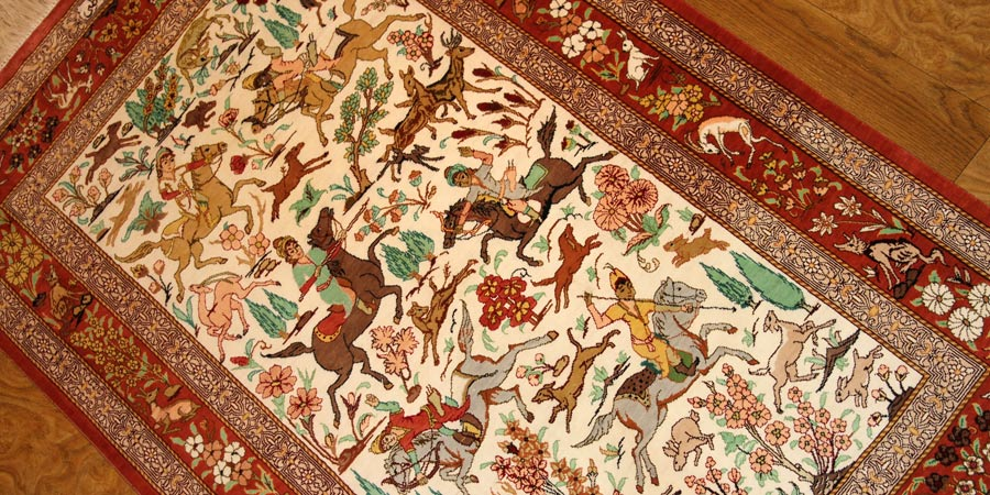 persian carpet design hunting